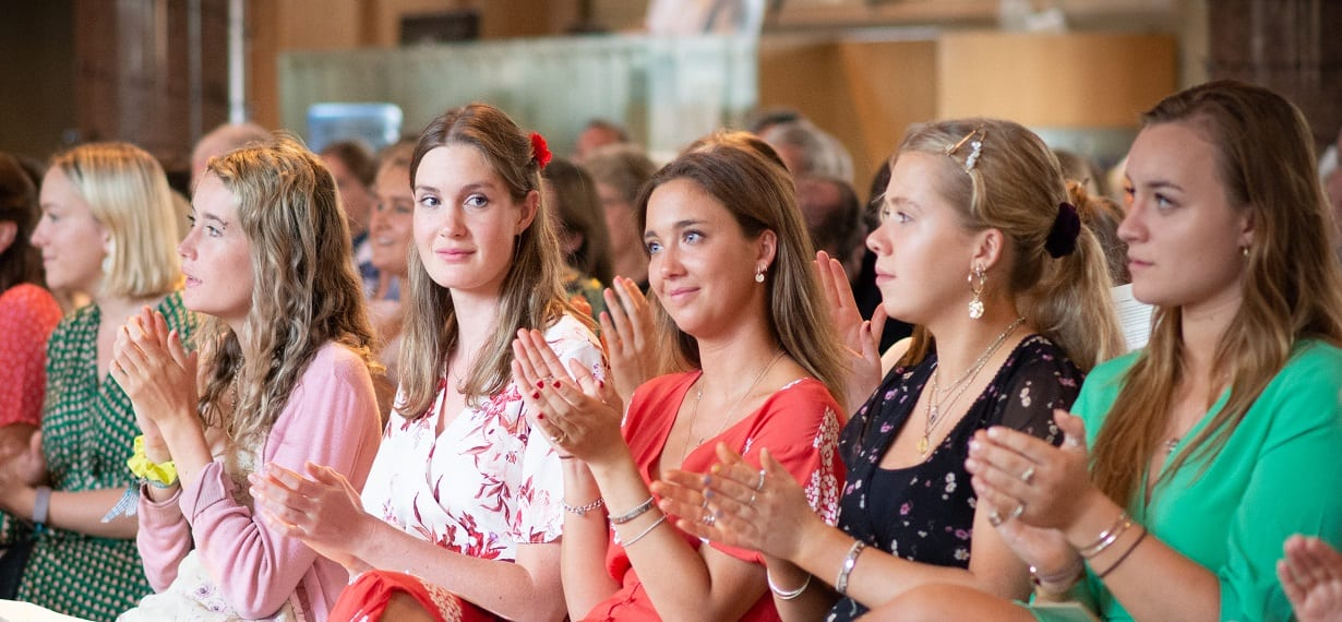 Oxford Media & Business School Graduation Day Clapping Students