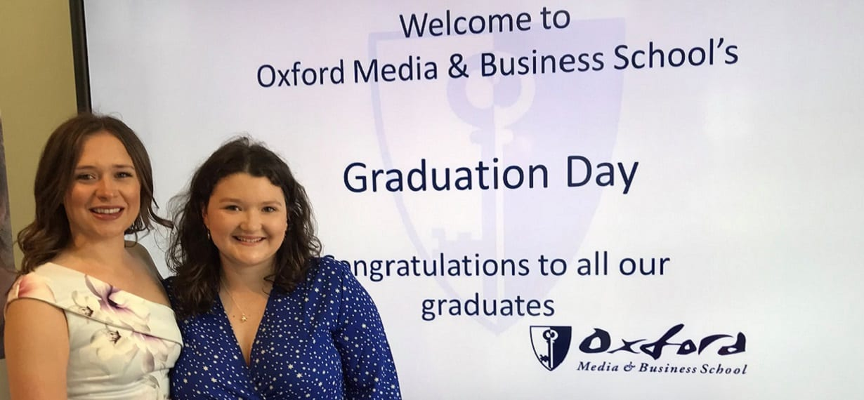 Oxford Media & Business School Graduation Day Welcome Students